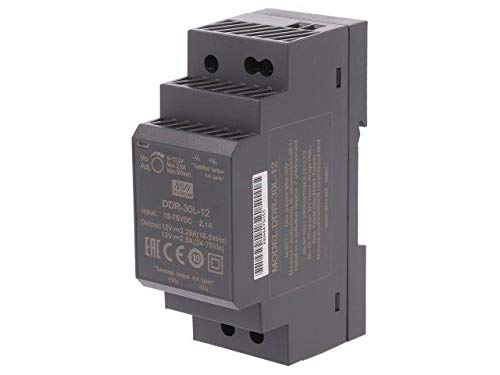 DDR-30L-12 Pwr sup.unit DC/DC 30W 12VDC 2.5A 18÷75VDC Mounting DIN MEANWELL -