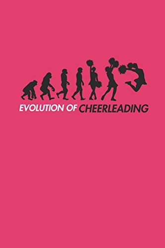 EVOLUTION OF CHEERLEADING: Notizbuch CHEER Notebook Cheerleader Journal 6x9 squared kariert (Womens Funny Kostüm)