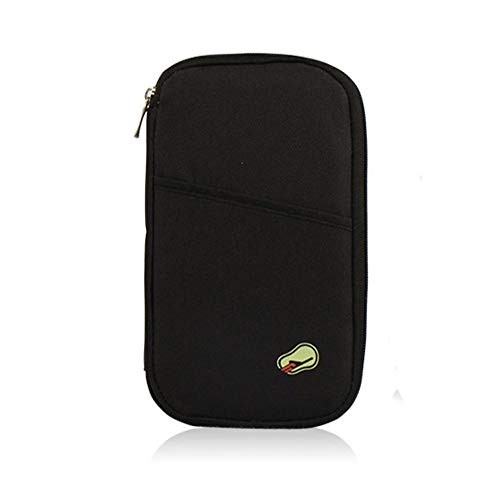 GMYQ Travel Wallet,Organiser Passport Holder for ID Cards, Credit Cards, Flight Tickets, Money and Other Travel Accessories Travel Passport Package, Black - Bag Safety First