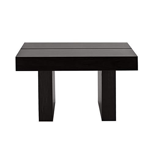 TemaHome Tokyo Table d'appoint, wengé placage de hêtre teinté, Noir, 62 x 62 x 35 cm