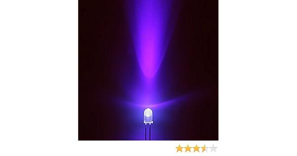 25 pezzi LED 3mm ultravioletto UV 390nm