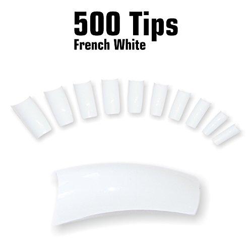 500-french-bianco-in-per-unghie-e-tips-10-misure-0-9-in-busta-trasparente-in-legno-verniciato-con-pi
