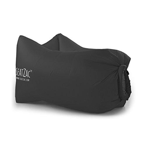 SeatZac ChillBag Polyester inkl Tragetasche schwarz Sitzsack Luftsack Luftsofa