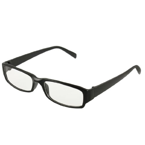 man-woman-black-plastic-full-frame-clear-lens-glasses-eyeglasses