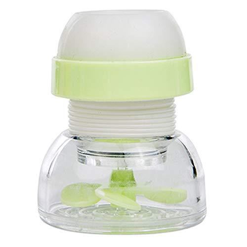 LEACK Ack Home Küche Wasserhahn Wassersparstrahler Fliter Splash Proof Filterventil 2.5x5x6.5cm grün