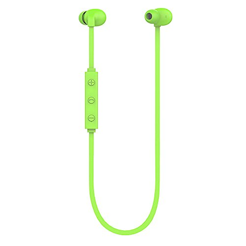 Battery Charging Pod (Normia Rita Bluetooth Headphones, Wireless 4.1 Comfortable In-ear Design Sweatproof Digital noise-cancelling provides clear and natural voice Earphones, Secure Fit for Sports with Built-in Microphone and HD Voice Support, the Best Sports Equipment - Green)