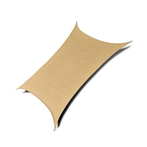 ZX-Plane ZXZIXI Beschattungsnetz Bogenform UV-Schutz Markise Außenterrasse Garten Cooler Bereich Square HDPE Sonnensegel (Color : Yellow, Size : 5X6M)