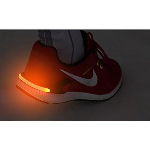 Lámpara LED LBS06N Clip Rojo/Reflector Led/Luz en rojo para–Zapatillas para su Seguridad y sus hijos en la carretera Correr, Ciclismo, en el schulweg Clip de calzado con luz roja LED, Rot