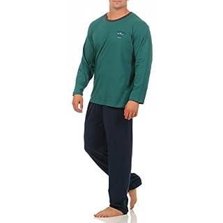 Hyund Langer Schlafanzug Herren Gr. 52/L Grün mit Motiv Hose anthrazit kariert schlafanzug herren schiesser schiesser pyjama pyjama männer kurze schlafanzüge herren Gr. Größe