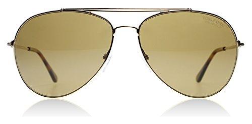 Tom Ford Unisex-Erwachsene Brillengestelle FT0497 28H 60, Gold (ORO Rosã Lucido\\Marrone Polar),...