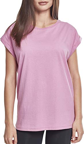 9491285065cfa1 Urban Classic Women s Ladies Extended Shoulder Tee T - Shirt Rosa (Cool  Pink 01467)