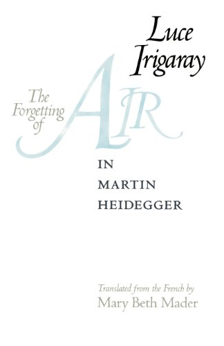 The Forgetting of Air in Martin Heidegger (Constructs Series) por Luce Irigaray