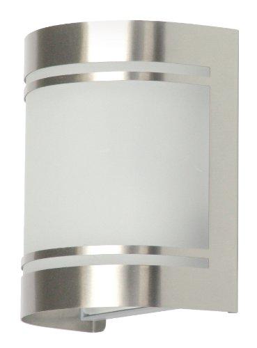 Ranex Alicante - Aplique de acero inoxidable y cristal satinado