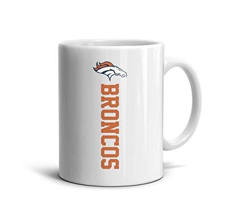11 OZ Mugs Unique Coffee or Tea Mugs Tea Cup Friend,Dad,Grandpa,Brother Gifts,Denver Broncos Logo,One Size ()