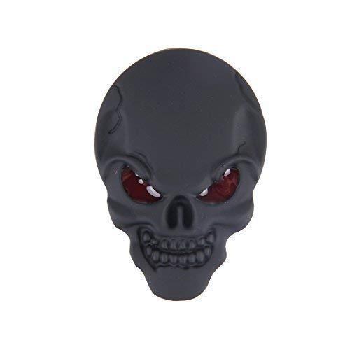 Totenkopf Skull Schädel 3D Metall Skull SCHWARZ MATT Aufkleber Emblem Sticker