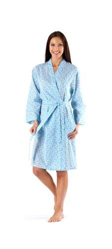i-smalls Ltd -  Camicia da notte  - Donna Blue (Kimono)