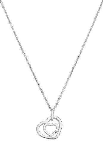 CHRIST-Silver-Diamonds-Damen-Kette-925er-Silber-1-Brillanten-ca-001-ct-silber-One-Size