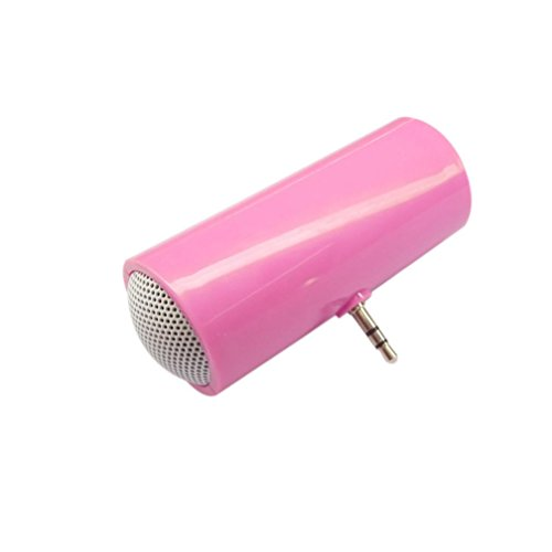 Jintime 3,5 mm Musik Player Portable Stereo Lautsprecher für iPod / iPhone6 Plus Handy (Pink)