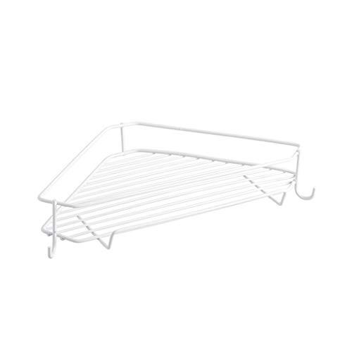 Scaffale da bagno in pvc battuto con ripiano in bagno. scaffale da parete per bagno con treppiede da bagno, carico 5kg (colore : bianca)