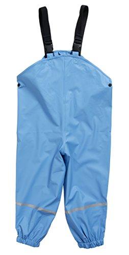 Matschklamotten Regenlatzhose ungefüttert Polyester mit Polyurethanbeschichtung wasserdicht verschweißte Nähte, Blau 128