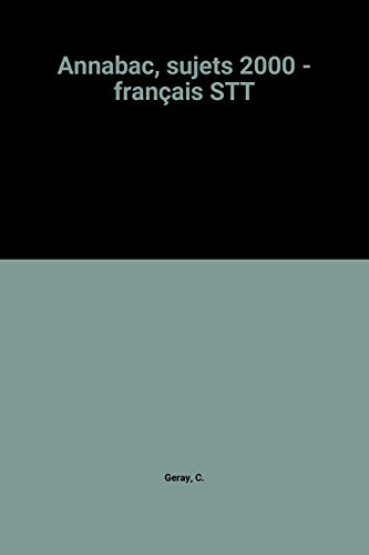 Annabac, sujets 2000 - français STT