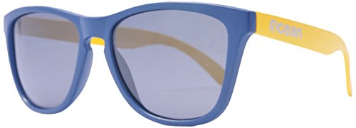 OCEAN SUNGLASSES - Sea - lunettes de soleil polarisÃBlackrolles  - Monture : Jaune/Bleu Marine - Verres : FumÃBlackrolle (40002.22)