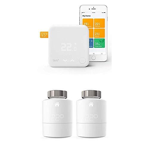 Tado Smartes Thermostat Starter Kit V3+ (Intelligente Heizungssteuerung) + Heizkörper-Thermostat Duo Pack (Zusatzprodukte für Einzelraumsteuerung)