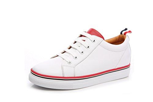 Damen Niedrige Schaft Slip On Schnürsenkel Flache Lässige Outdoor Laufschuhe Bequeme Sneakers Weiß