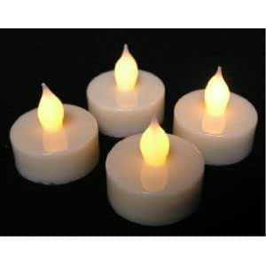 4 X LED OPERATED FLICKERING TEALIGHTS TEA LIGHT CANDLES