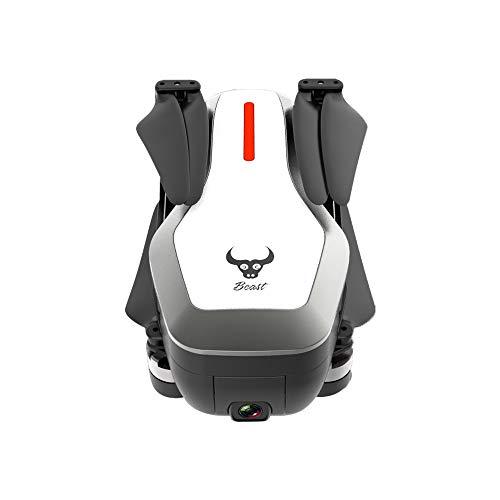 HappySDH SG906 Drohne + Rucksack mit Kamera HD 4K,5G WiFi FPV Brushless Faltbar Drohne mit GPS Navigation, 360-Grad-Flip,Quick Shot, Live Video, Quadrocopter für Kinder und Anfänger (Weiß)
