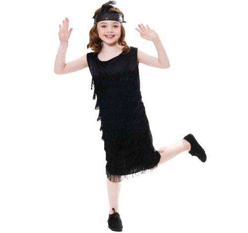 Kinder Mädchen Fransen Flapper wie 20s Charleston Kostüm 10-12 (Girl Kostüme Fringe Flapper)
