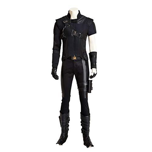 QWEASZER Marvel Avengers Hawkeye Cosplay Kostüm Superheld Kostüm Tops, Hosen, Westen, Handschuhe Halloween Kostüm Requisiten Deluxe Edition,Ronin-S