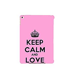Fuson Designer Back Case Cover for Apple iPad Air :: Apple iPad Air Wi-Fi + Cellular :: Apple iPad 5 (Pink Lovely Pink Keep CAlm Be Quiet Be Cool)