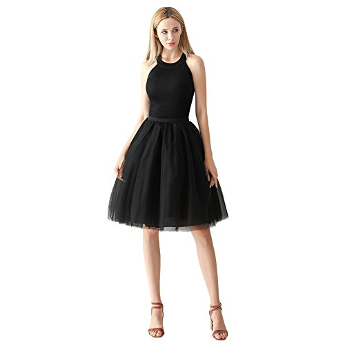Used, ShowYeu Women's A-line 60CM Petticoat Tulle Skirts for sale  Delivered anywhere in UK