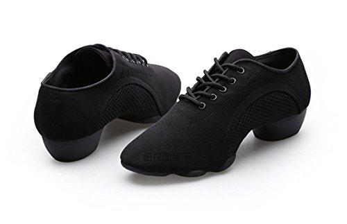 E Support™ Damen Sneaker Tanzschuhe Tanzsneaker Dancesneaker Jazzschuhe Schwarz