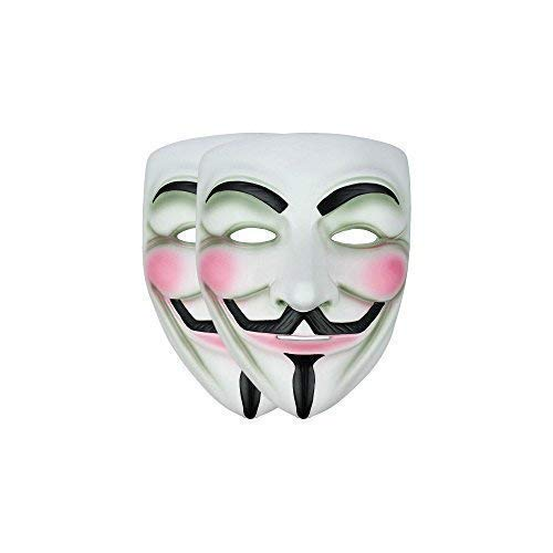 Anonymous V for Vendetta Guy Fawkes Kostüm Halloween Maske