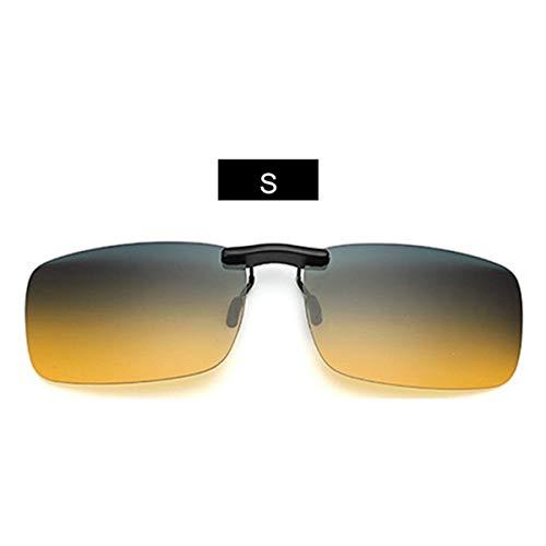 Sonnenbrillen Rimless Polarized Sunglasses Clip On Glasses For Driver Driving Men Flip Myopia On Sun Glasses Night Lens UV400 S Yellow
