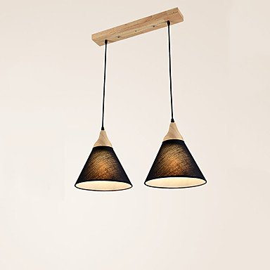 Suspendus/suspension ,Peinture contemporaine/moderne disposent pour LED/Bamboo BOIS Salon Chambre Salle à manger cuisine salle d'étude ou bureau,BLACK