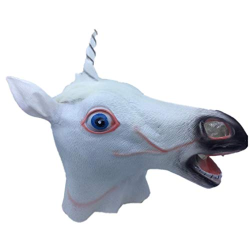 Bontand Magisches Einhorn-Maske Neuheit Halloween-Kostüm-Party Einhorn Latex Tierkopf-Maske (Magische Einhorn Für Erwachsene Kostüm)