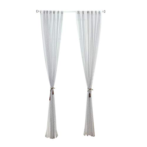 Cutogain semplice a strisce tenda tinta unita garza balcone sheer pannello sciarpa per camera da letto porta finestra home decor, thin stripe