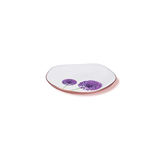 Jasper - Designer Plate Food Grade with Blossom Pattern for Home Gifts, Nuts, Cookies & Multipurpose (Rose Gold-8.5 inch)