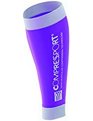 Compressport Calf R2 - Pernera unisex, color morado, talla M (Tamaño Fabricante : T2)