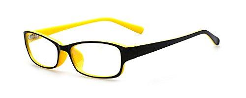 Outray Kinder Retro Rechteck klare Linse Brille 8005C4 Gelb