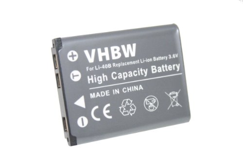 VHBW AKKU LI-ION passend für KODAK Easyshare M530 M550 M575 M580 M522 M531 M532 M552 M583 M873 M883 Mini 200 Touch ersetzt Klic-7006