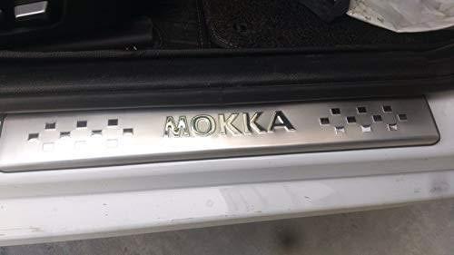 LDXCT 4 Stücke Trittplatte Verschleißplatte LED Äußere Einstiegsleisten Schwelle Für OPEL Mokka Vauxhall Mokka 2012 2013 2014