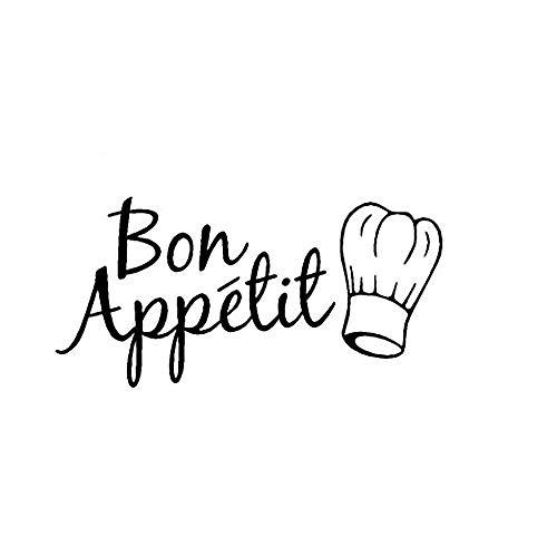 Französisch Bon Appetit Aufkleber Zitat Vinyl Wandaufkleber für Küche Dinner Room Home Kunst Dekoration Kunst-dinner