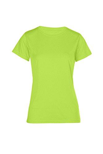 T-shirt Performance femme vert fluo