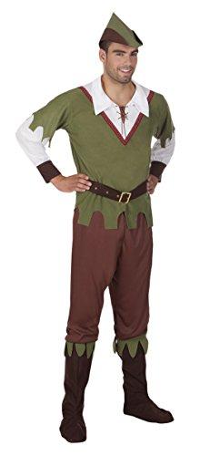 erdbeerloft - Herren Hochwertiges Kostüm Waldjäger, Olive, Größe (Kostüm Eine Olive Einfach)