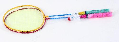 Federballset/Badmintonset mit 2 Schlägern und 1 Federball