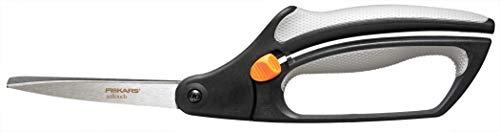 Fiskars Softgrip Tijeras multiuso, Longitud: 26 cm, Hoja de acero inoxidable/Mangos de plástico, Negro/Gris, Easy Action, 1003873